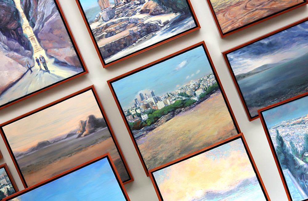 Cradle of Life: The Treasures of Jordan is a collection of oil and cold wax paintings by Leanne Fink.