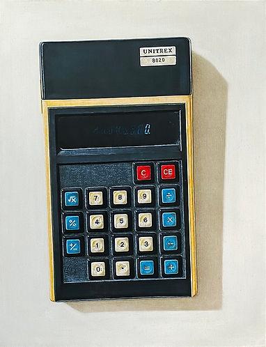 Calculator, 2020, acrylic & oil on board