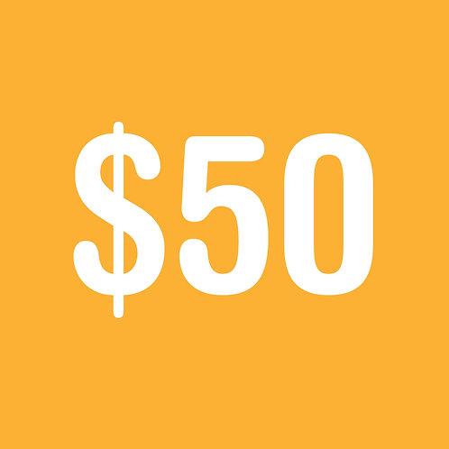 $50 Color Run Donation