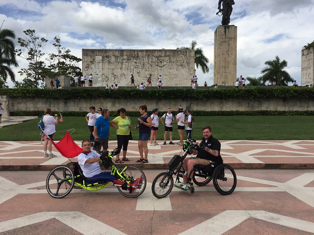 Brendan handcycles across Cuba