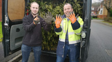 Another record-breaking Christmas tree collection for St Richard's Hospice