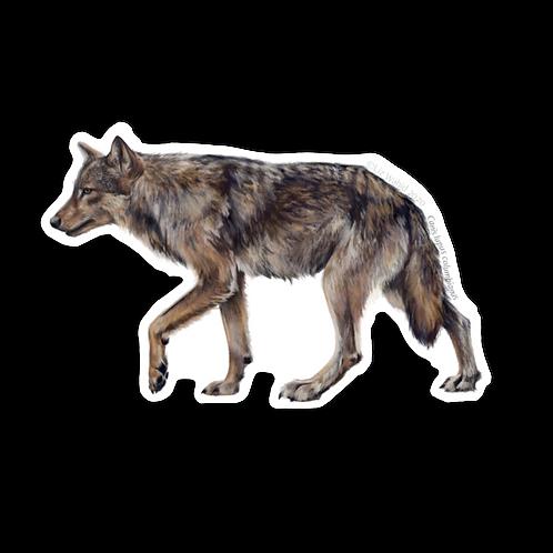Coastal Wolf Sticker