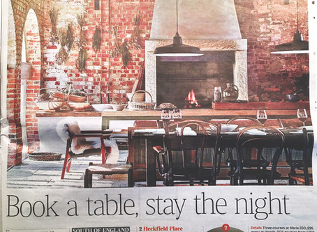 The Times November 2018 – 'Book a table, stay the night'.