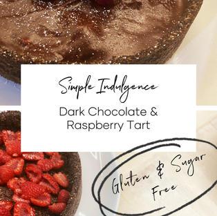 Dark Chocolate & Raspberry Tart