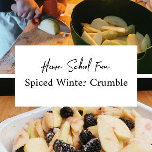 Spiced Winter Crumble