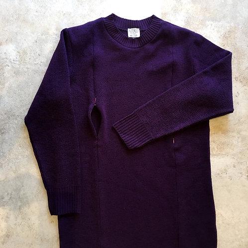 Deep Purple Fleck Milano Knit Jumper Dress