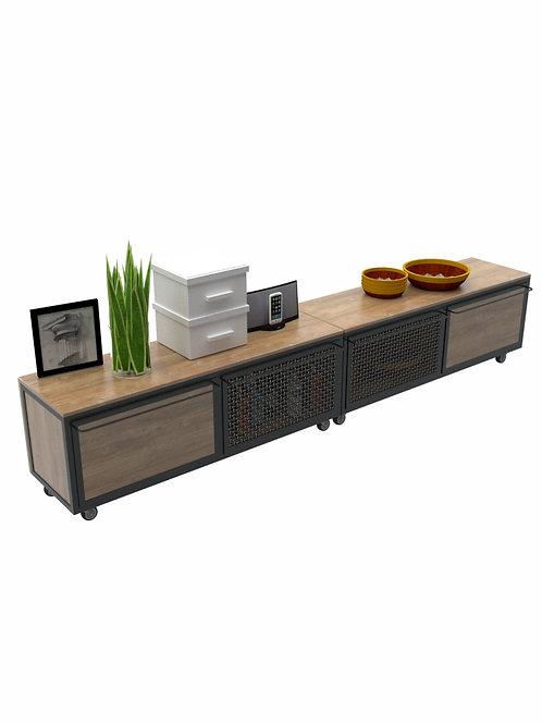 Mueble organizador modular en madera