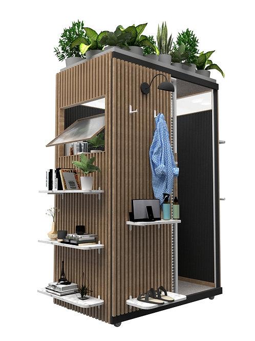 Cabina para trabajo privado en madera
