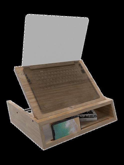 Base para portátil o laptop reclinable en madera