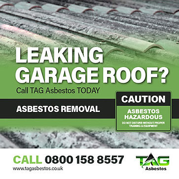 Leaking garage roof image and advert