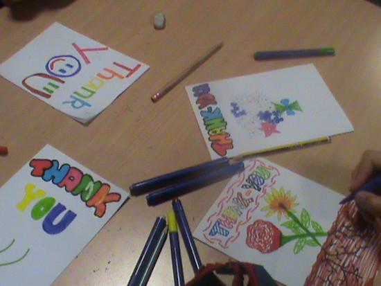 Twyford Students 'Thank You' Artwork, RT