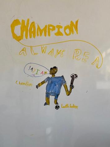 Champion Laith Abed