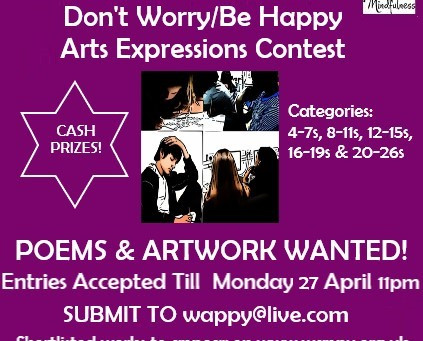 CREATING MINDFULLY- 'Don't Worry/Be Happy' Arts Expressions Contest! See the vid below for details!