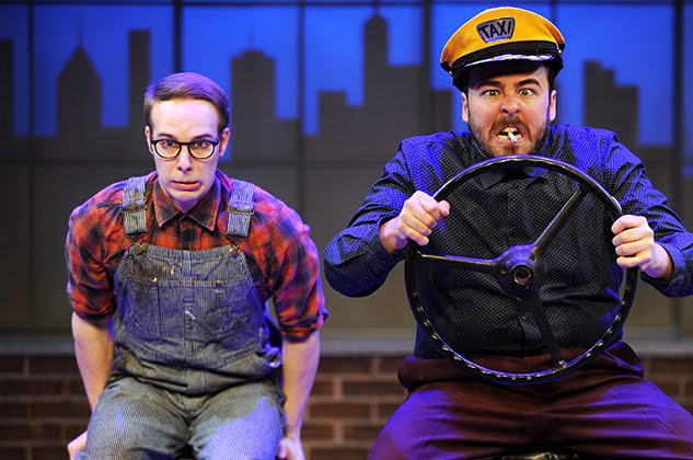 John Wascavage and Quinn Patrick Shannon in the Pittsburgh CLO production of UP AND AWAY.