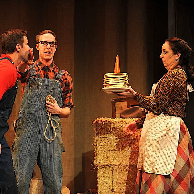 John Wascavage, Michael Greer and Christine Laitta in the Pittsburgh CLO production of UP AND AWAY.