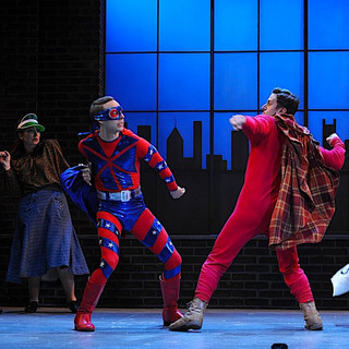 John Wascavage, Michael Greer and company in the Pittsburgh CLO production of UP AND AWAY.