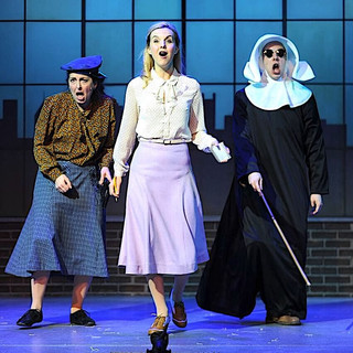 John Wascavage, Erika Strasburg and Christine Laitta in the Pittsburgh CLO production of UP AND AWAY.