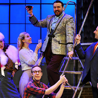 John Wascavage, Michael Greer, Erika Strasburg, Quinn Patrick Shannon and Christine Laitta in the Pittsburgh CLO production of UP AND AWAY.