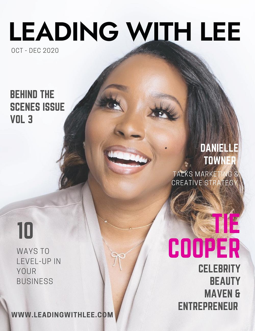 Leading with Lee magazine, Tie Cooper