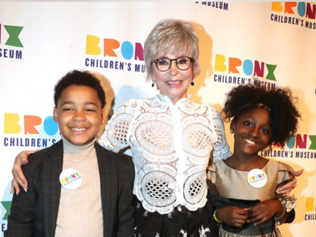 Actors River Mason Eromosele and Rylee Gabrielle Escort EGOT Winner and Hollywood Legend Rita Moreno