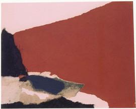 1999 26.5x21.5cm, collage et decollage sur toile,1999