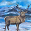 """Thumbnail: Screel Hill Stag - Signed Framed Glicee Print  12x12"""""""