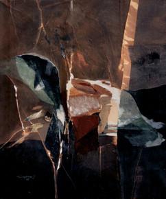2005 59x70 collage, decollage, acrylic on korean paper 2005