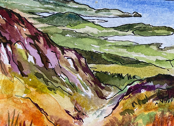 Solway view from Screel - framed watercolour
