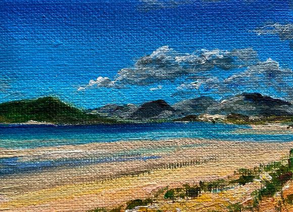 Luskentyre (miniature) Acrylic on Canvas 7x9cm