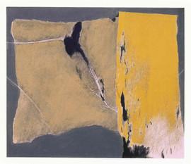 1999 52.5x45cm,collage et decollage sur toile,1999