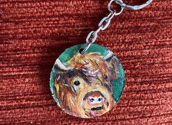 Coloured coo key rings (various)