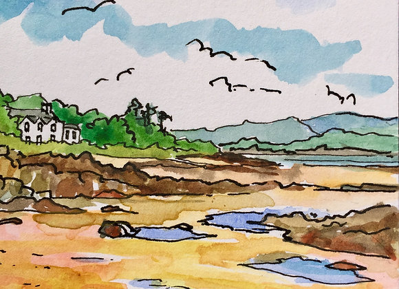 Square greetings card( Rockcliffe ) 7.5 x 7.5cm
