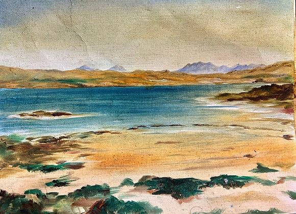 View of Skye - Framed oil painting 42 x 33 cm
