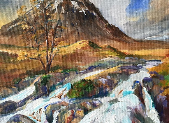 Buchaille Etive Mor - Signed A3 print Framed and mounted in A2 black frame