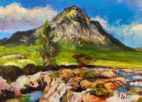 Buchaille Etive Mor - Acrylic on canvas - 12 x 16 cm