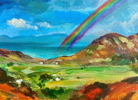 Rainbow over Ardnamurchan - signed Limited Edition Print