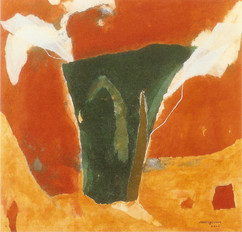 2001 Summer 71x69 collage,decollage,acrylic on korean paper 2001