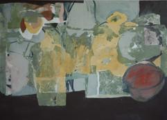 2007 garden of joy 105x145, Acrylic on korean paper, 2007