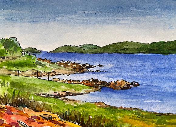 Rough Firth - Framed watercolour - 12x17cm