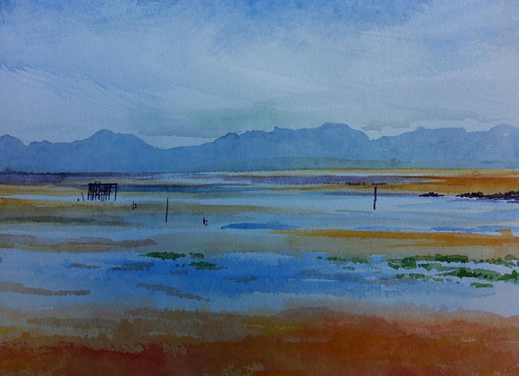 View across the Solway - Framed Limited Edition Print