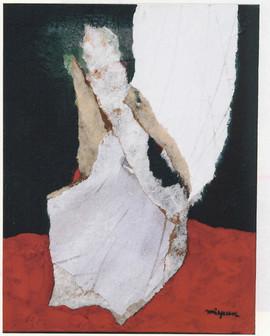 1999 27x35cm,collage et decollage sur toile,1999