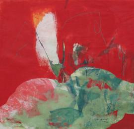 2012 71x74, acrylic on korean paper, 2012
