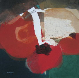 2007 Fruit, , 70 x 71, Acrylic on korean paper, 2007