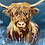Thumbnail: Large hand painted highland cow gift box