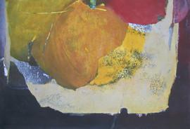 2010 Fruit II 107x73cm, acrylic on korean paper decollage 2010
