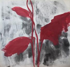 2012 74x143, acrylic on korean paper, 2012