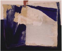 1999 55x46cm,collage et decollage sur toile,1999