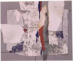 1999 55x46cm, collage et decollage sur toile,1999