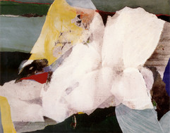 1999 Yearning I 91x72.5 cm collage decollage korean paper on canvas 1999