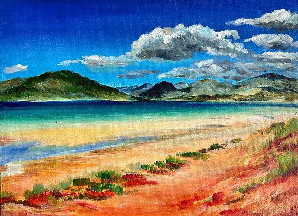 Across from Seilibost - Acrylic on canvas - 23x30cm